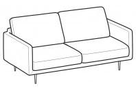 Sofas Tidy 3-er sofa