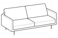 Sofas Tidy 3-er maxi sofa