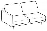 Sofas Tidy 2-er lateral element