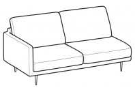 Sofas Tidy 3-er lateral element