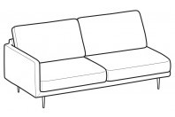 Sofas Tidy 3-er maxi lateral element