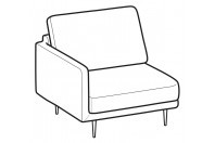 Sofas Tidy 1-er small lateral element