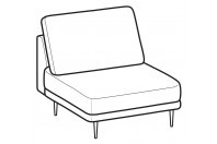 Sofas Tidy 1-er small central element