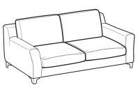 Sofas Vincent 2-er maxi sofa