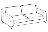 Sofas Vincent 3-er sofa