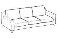 Sofas Vincent 3-er maxi sofa