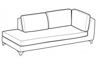 Sofas Vincent Angular side element