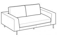 Sofas Voyage 2-er sofa