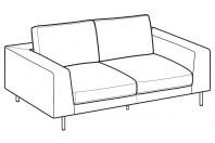 Sofas Voyage 2-er maxi sofa