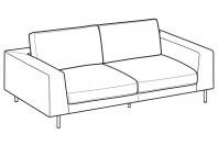 Sofas Voyage 3-er maxi sofa