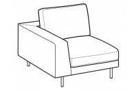 Sofas Voyage 1-er small lateral element