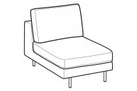 Sofas Voyage 1-er small central element