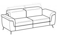 Sofas Zeno 3-er maxi sofa