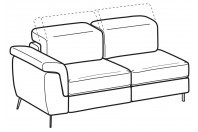 Sofas Zeno 2-er lateral element