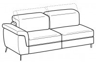 Sofas Zeno 3-er maxi lateral element