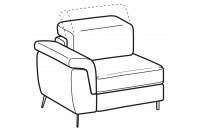 Sofas Zeno 1-er small lateral element