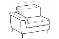 Sofas Zeno 1-er lateral element