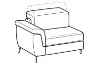 Sofas Zeno 1-er maxi lateral element