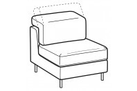 Sofas Zeno 1-er small central element