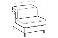 Sofas Zeno 1-er central element