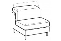 Sofas Zeno 1-er maxi central element