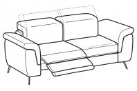 Sofas Zeno 2-er sofa with 1 relax