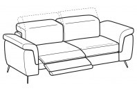 Sofas Zeno 3-er sofa with 1 relax