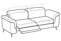 Sofas Zeno 3-er maxi sofa with 1 relax