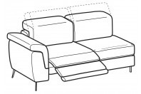 Sofas Zeno 2-er lateral element with 1 relax
