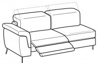 Sofas Zeno 3-er lateral element with 1 relax