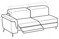 Sofas Zeno 3-er maxi lateral element with 1 relax