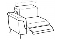 Sofas Zeno 1-er small lateral element with relax