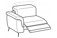 Sofas Zeno 1-er lateral element with relax