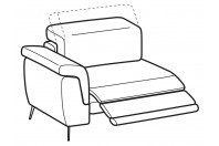Sofas Zeno 1-er maxi lateral element with relax