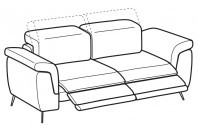 Sofas Zeno 2-er sofa with 2 relax