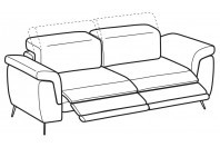 Sofas Zeno 3-er sofa with 2 relax