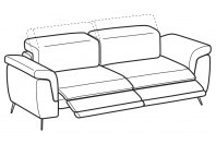 Sofas Zeno 3-er maxi sofa with 2 relax