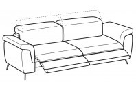 Sofas Zeno 4-er sofa with 2 relax