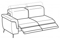 Sofas Zeno 2-er lateral element with 2 relax