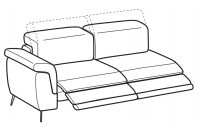 Sofas Zeno 3-er lateral element with 2 relax