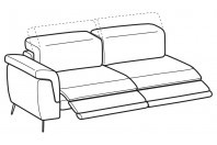 Sofas Zeno 3-er maxi lateral element with 2 relax