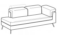 Sofas Zeno Angular side element